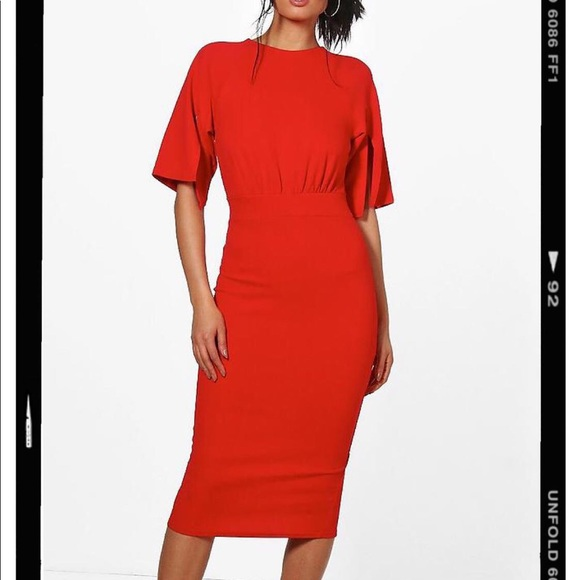 dc71b466591 Boohoo Dresses | Split Sleeve Detail Wiggle Midi Dress | Poshmark